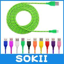 3M/10FT Long Strong Fabric Braided Micro USB Cable Sync Charger Cable For Samsung Galaxy S3 S4 S5 S6 Note 2 3 4 10 Colors