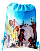 Baymax&Spiderman&Avengers&Cute Pig Children Cartoon Drawstring Bag Backpacks Kids School Bags Mochila Infantil For Gift (China (Mainland))