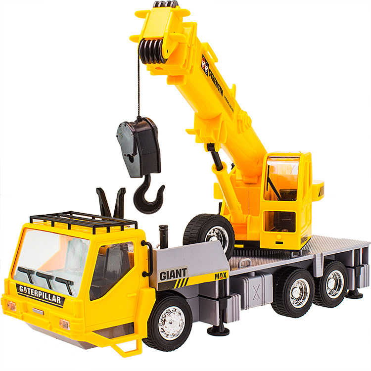 Exquisite11CH toy crane trucks children's electric car toy with flashing music RC engineering car toy remote control truck model(China (Mainland))