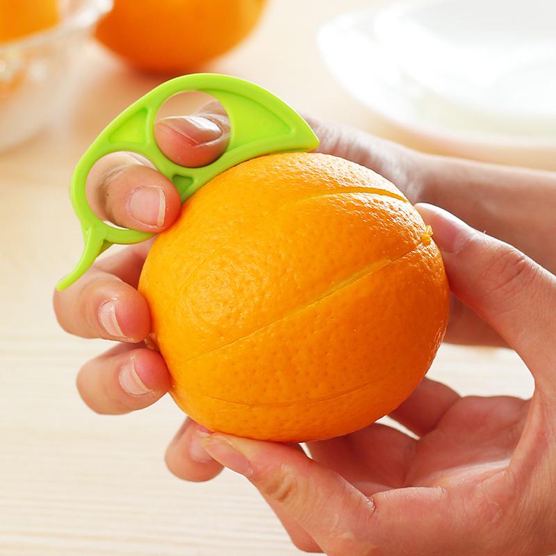 Creative Orange Peeler Mouse Style Cute Orange Barker Multicolor Orange Peel Device Easy Use Fruit Stripper Practical Kitchen(China (Mainland))