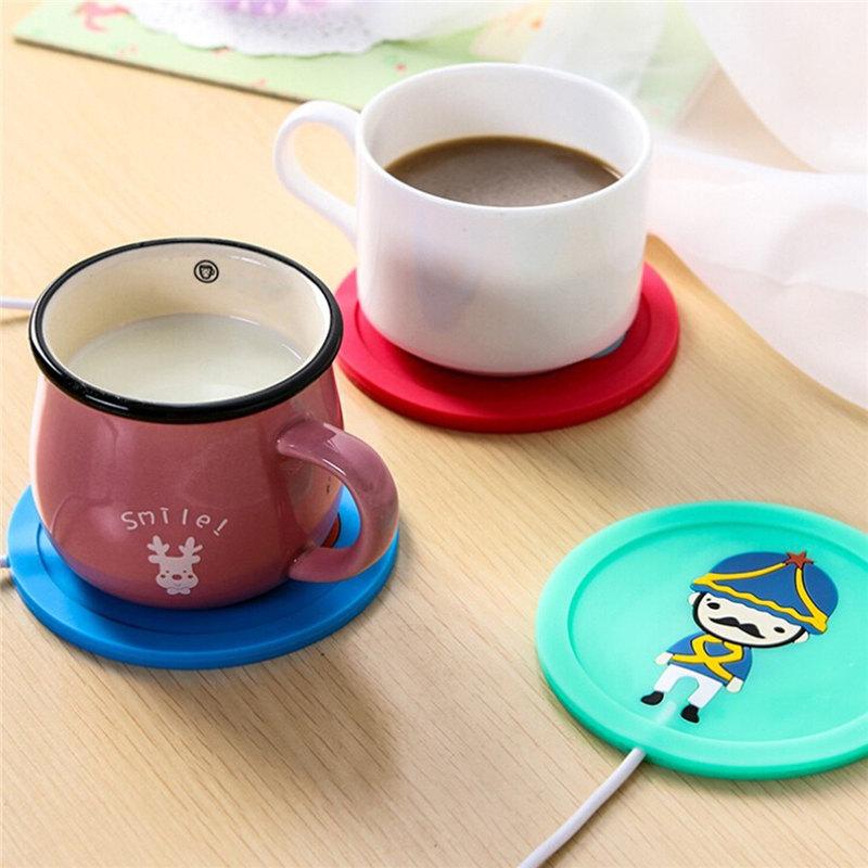 2016 Design USB Warmer Silicone Heater 5V USB MilkTea Coffee Mug Warmer Hot Drinks Beverage Heater Cup 9.5x0.6cm(China (Mainland))