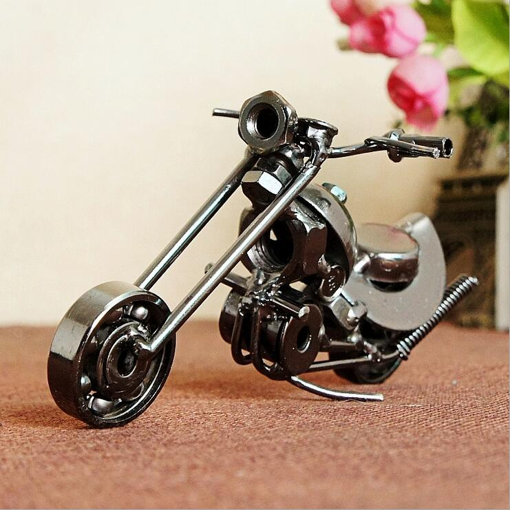 Metal Crafts Motorcycle Model Creative Screws Combination Decorative Showpiece Personality Gifts Motorbike Scooter Model China