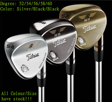 1 Piece Free Shipping! 2015 Brand New Man Spin Milled Golf Clubs Wedge Vokey SM-4 Degree 52/54/56/58/60 Color Silver/Black/Gold(China (Mainland))