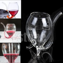 New 300ml Wine Red  Glass Cup Mug With Built in Drinking Tube Straw(China (Mainland))