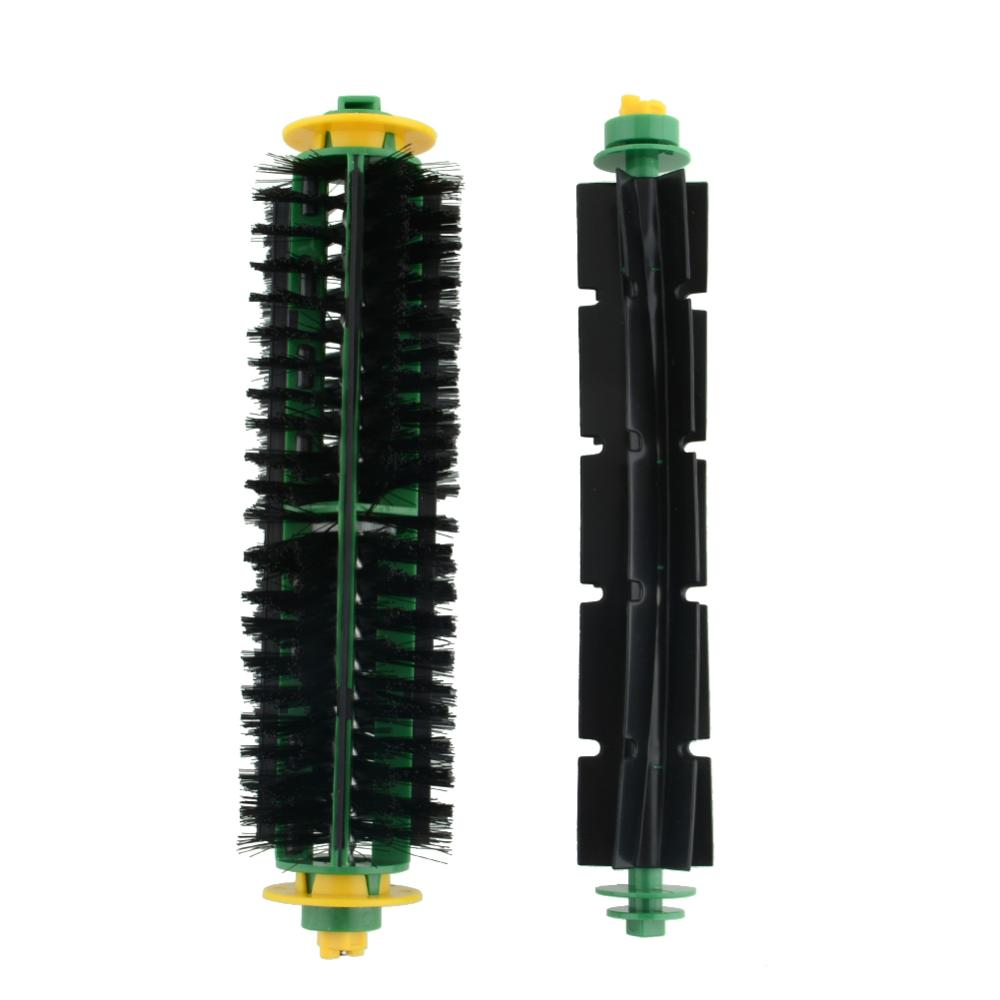Bristle Brush +Flexible Beater Brush For iRobot Roomba 500 Series 550 570 Clean Free Shipping