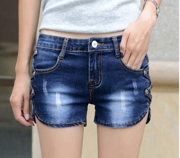 Womens Blue Jean Shorts - The Else