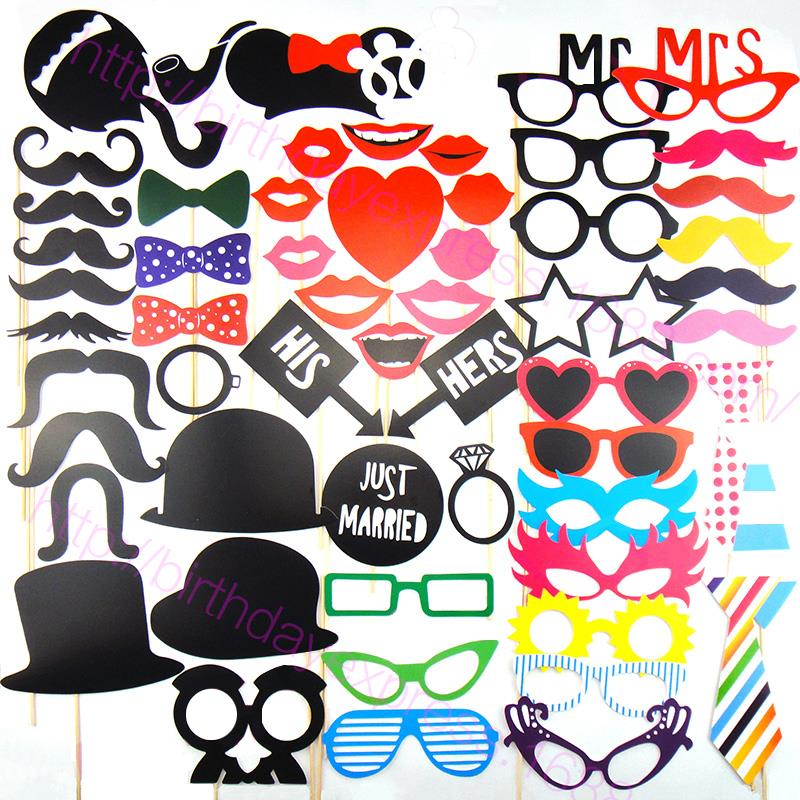 New Design 58 pcs/Set Multicolor Fun Lip Wedding Supply Photo Booth Props Wedding Christmas Party Decoration XL Size for Adult(China (Mainland))