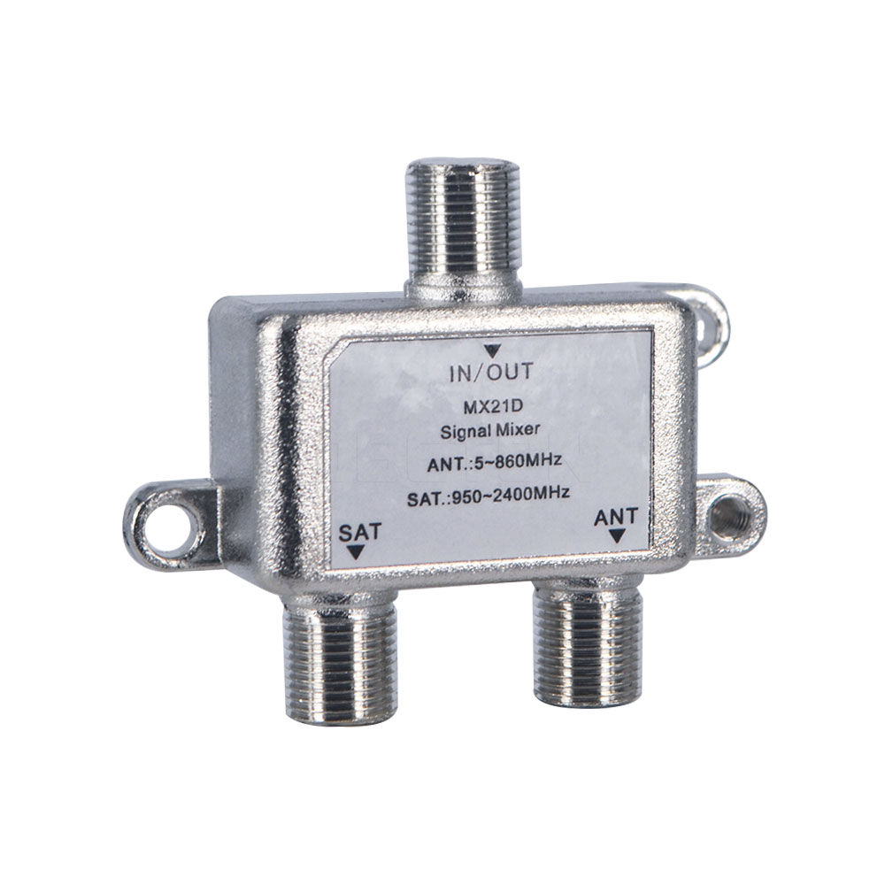 New 2 In 1 Dual-use 2 Way Port TV Signal Satellite Sat Coaxial Diplexer Combiner Splitter Combiners Cable Switch Switcher(China (Mainland))