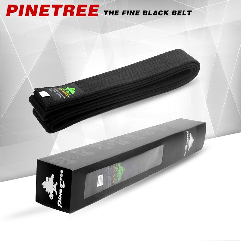 Pinetree track tape WTF taekwondo belt karate audlt kids belt taekwondo black color belt Custom embroidery 2.8m(China (Mainland))