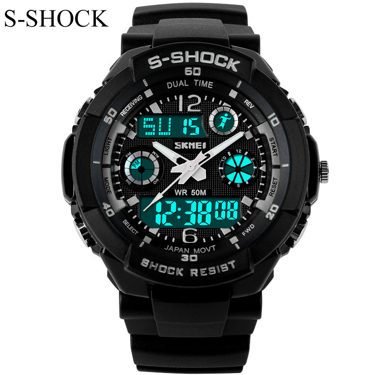 New G Style Quartz Analog Digital Watch Men Women Dual Time Sports Watches Luxury S Shock Military Army 50m Waterproof Reloj(China (Mainland))