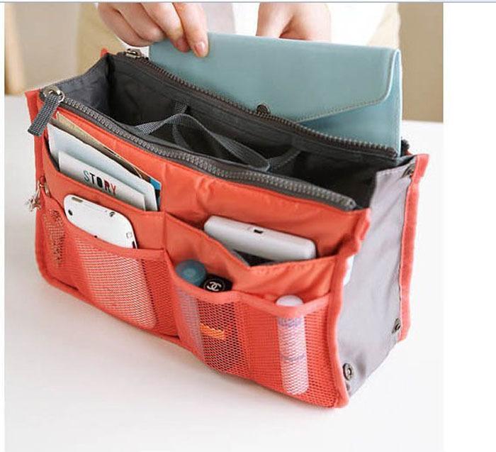 HOT Sale!Multi Functional Cosmetic Bag Storage Travel Bag In Bag Handbag Mp3 Phone Cosmetic Book Storage Purse Free Shipping(China (Mainland))