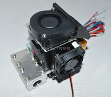 3D Printer head Double Cooling Fans for 1.75mm 3.0mm Direct Filament Wade Extruder 0.2mm 0.3mm 0.4mm Nozzle