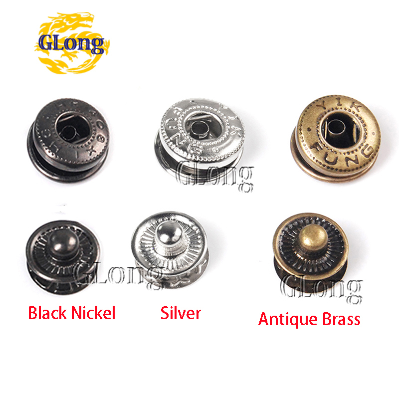 100/pack metalen drukknopen drukknopen naaien naaien knop lederen ambachtelijke kleding tassen #gz153- 12(China (Mainland))