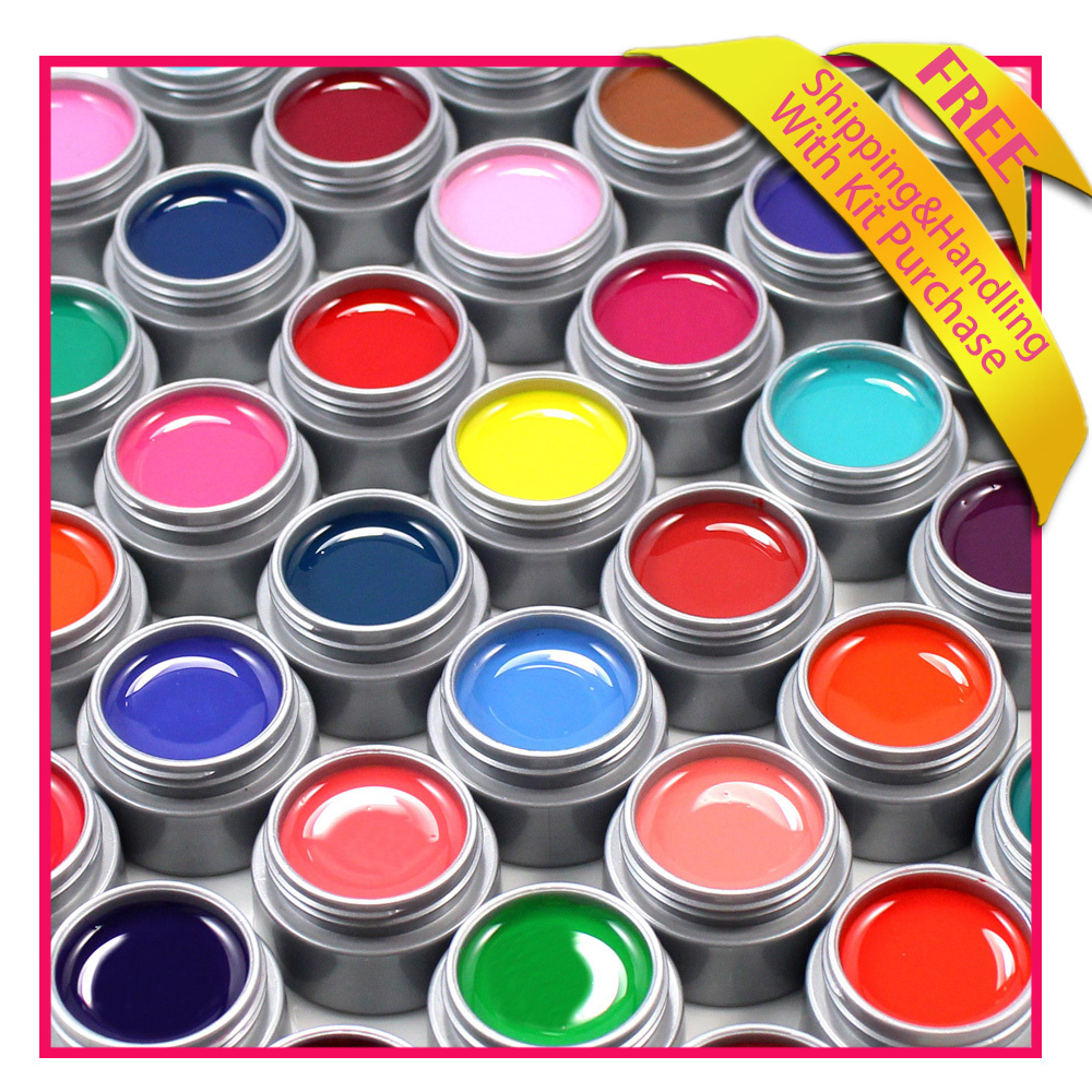 Wholesale 100% Brand New 6 pcs nail builder gel suitable for false nails DIY 6ml color uv gel Free shipping(China (Mainland))