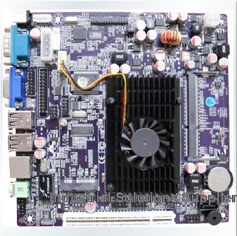 Ultrathin D525 1.8G dual core D C 12V power supply to touch the machine advertising medical embedded motherboard(China (Mainland))