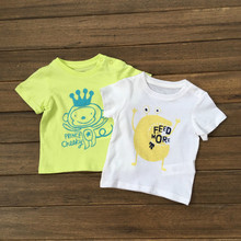 2016 New Summer Baby t-shirts 100% Cotton Short Sleeved Baby T Shirts for Boys express Animal 3M – 23M Baby clothes