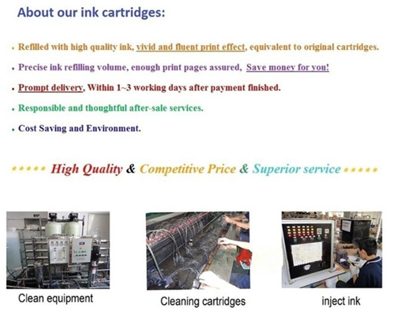4Black 364 XL 364XL Ink Cartridges Replace For HP HP364XL HP364 Photosmart Wireless B109a B109d B109f B109n B010a Inkjet Printer