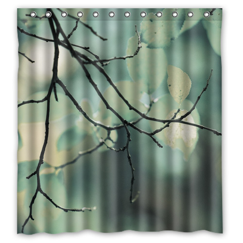 YOOSEE Leaves, Trees Personalized Custom Shower Curtain Bath Curtain Waterproof  66x72inch GOOD GIFT!!(China (Mainland))