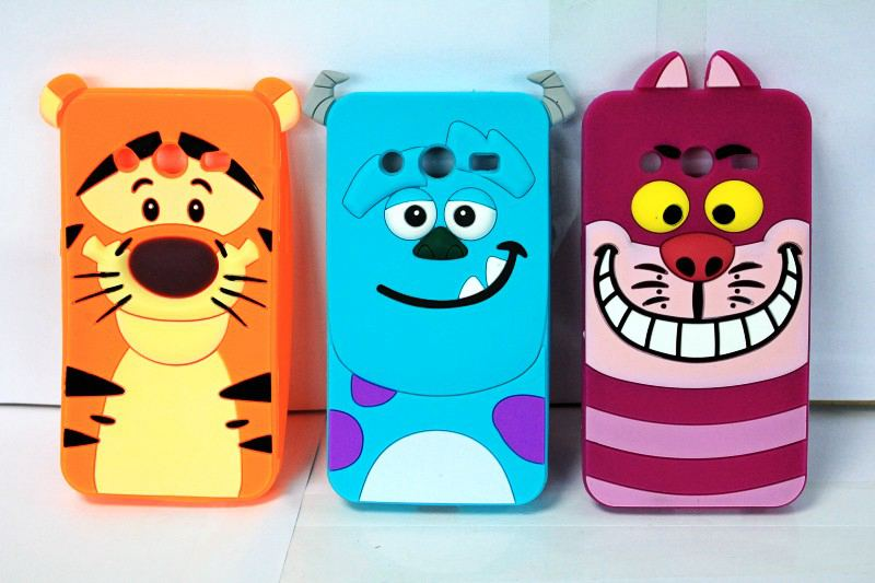 for Samsung Galaxy Core II 2 G355H Cover Monsters 3D Cartoon Animal Tiger Sulley Marie Alice Cat Slinky dog Silicone phone case(China (Mainland))