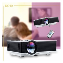 Free Shipping UNIC UC40 800 lumens LED Mini Projector Home Cinema Business HDMI AV SD 1080P + US/EU Plug Power Cable(China (Mainland))