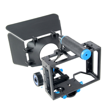 Buy Handheld DSLR Rig Camera Cage Set Follow Focus Matte Box Canon 5D2 5D3 6D 7D 60D 70D 5D Film Making Photo Studio Accessories for $108.00 in AliExpress store