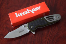 8000OL Kershaw cuchillos cuchillo plegable que acampa supervivencia cuchillo táctico herramientas de múltiples funciones de la manija de aluminio de la gota