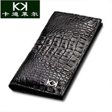 KADILER Ultra-thin Thailand crocodile leather wallet man long leather quality goods business large wallet male tide