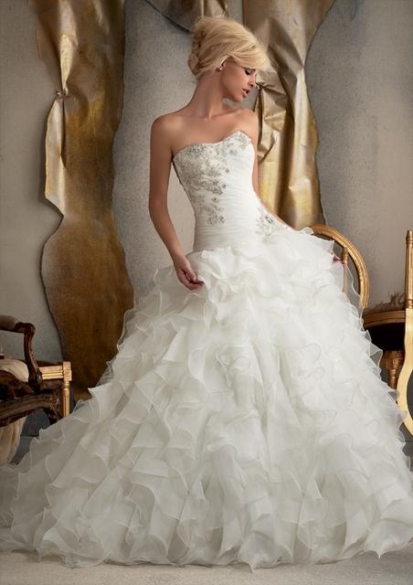 Бальное платье оборками из органзы кристаллы горячая распродажа дешевые заказ новое ...