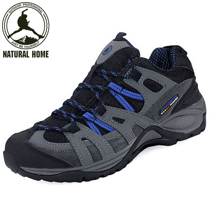 [NaturalHome] Brand men outdoor hiking shoes non-slip waterproof climbing botas breathable mountain trekking shoes sports boots(China (Mainland))