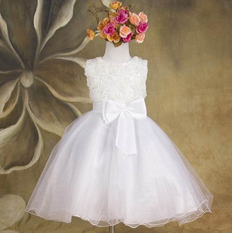[해외]2015 summer new flower princess girl dress,lace rose P..