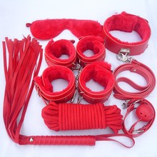 Buy Sex Slave Bondage Kit Faux Fur Leather Fetish Harness Sex Toys 7pcs Neck Collar Mouth Ball Gag Handcuffs Restraint Rope Mask for $20.90 in AliExpress store