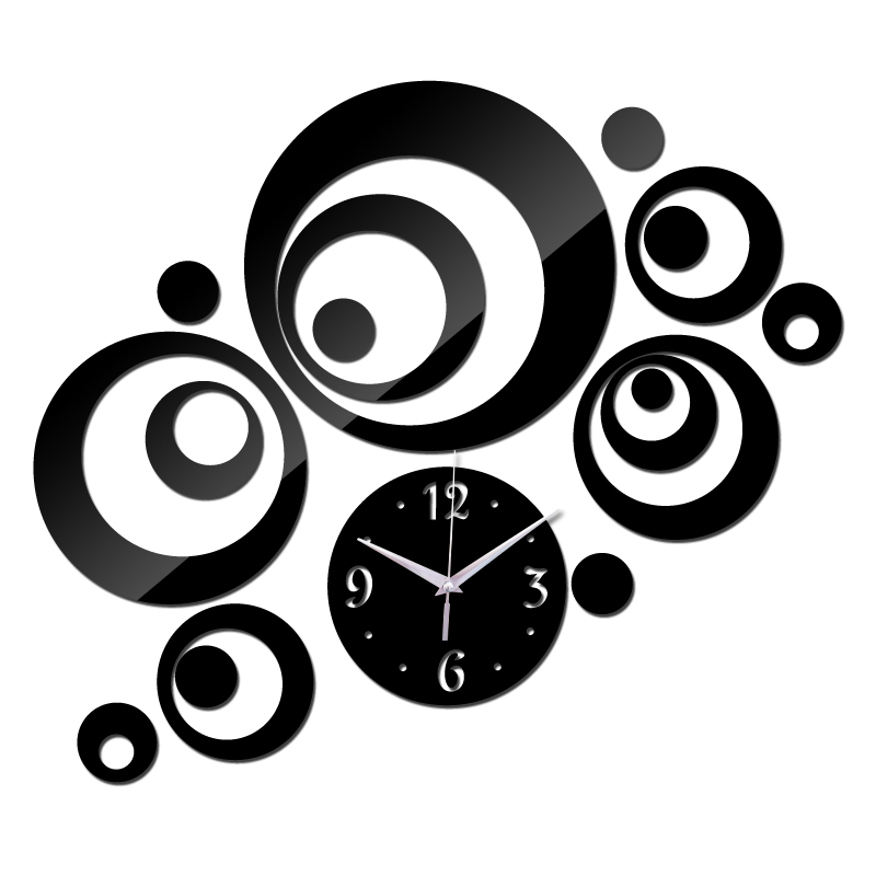 2015 direct selling child real mirror acrylic wall stickers novelty fashion quartz clock living room new watch free shipping(China (Mainland))