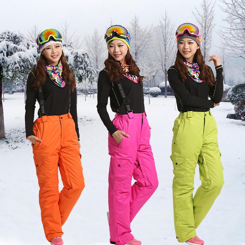 Female Ski Pants Single And Double Snowboard Plate Charge Skiing Pants Windproof And Waterproof Outdoor Warm TrousersÎäåæäà è àêñåññóàðû<br><br>