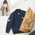 Male Female Child Autumn Embroidered AirPlane Baseball Jacket Kid s Deer Embroidery Baseball Uniform