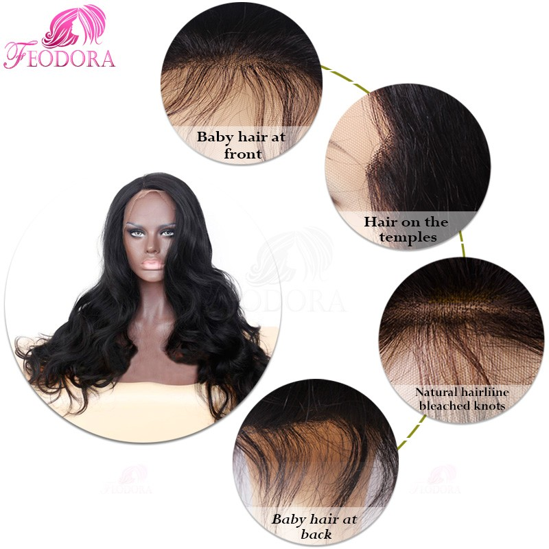 Glueless Full Lace Wigs Grade 7A Brazilian Virgin Lace Front Closure Sale For Black Women Customized Natural Hairline Straight