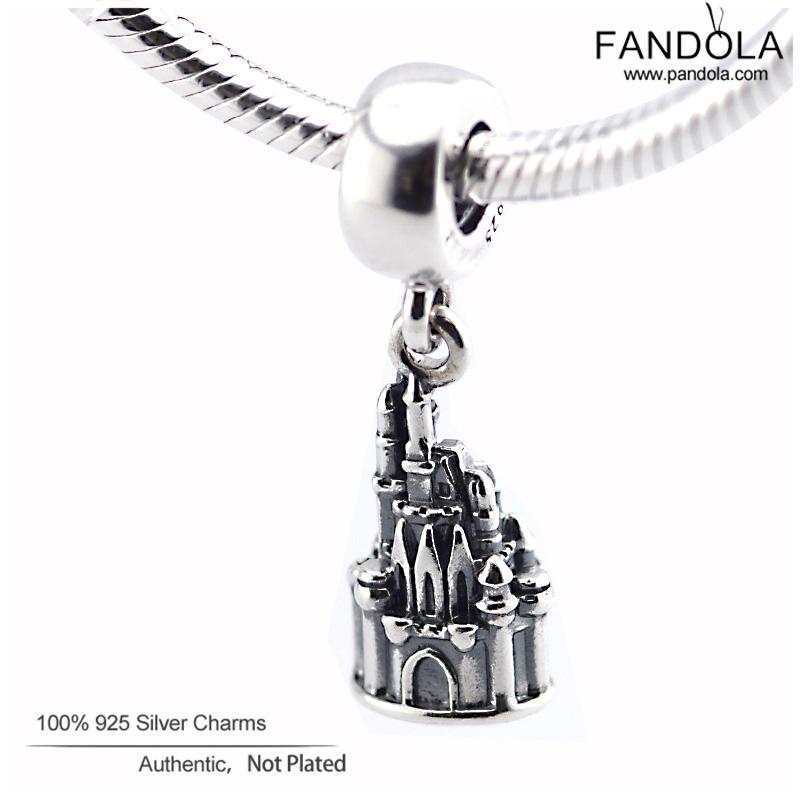 Jewelry 925 Sterling Silver Charms Fits Pandora bracelets Christmas Gift Bead Walt World Cinderella Castle Charm<br><br>Aliexpress