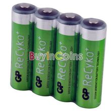 4 PCS Hi-power GP Recyko 2050mAh 1.2V Ni-MH NIMH Rechargeable AA Battery MBIC #1  MBIC #22537(China (Mainland))