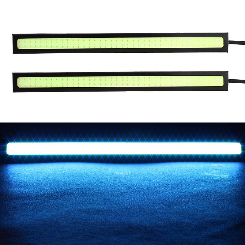 2Pcs 17CM LED COB DRL Daytime Running Lights DC12V External Waterproof Led Car Styling Car Light Source Parking Fog Bar Lamp<br><br>Aliexpress