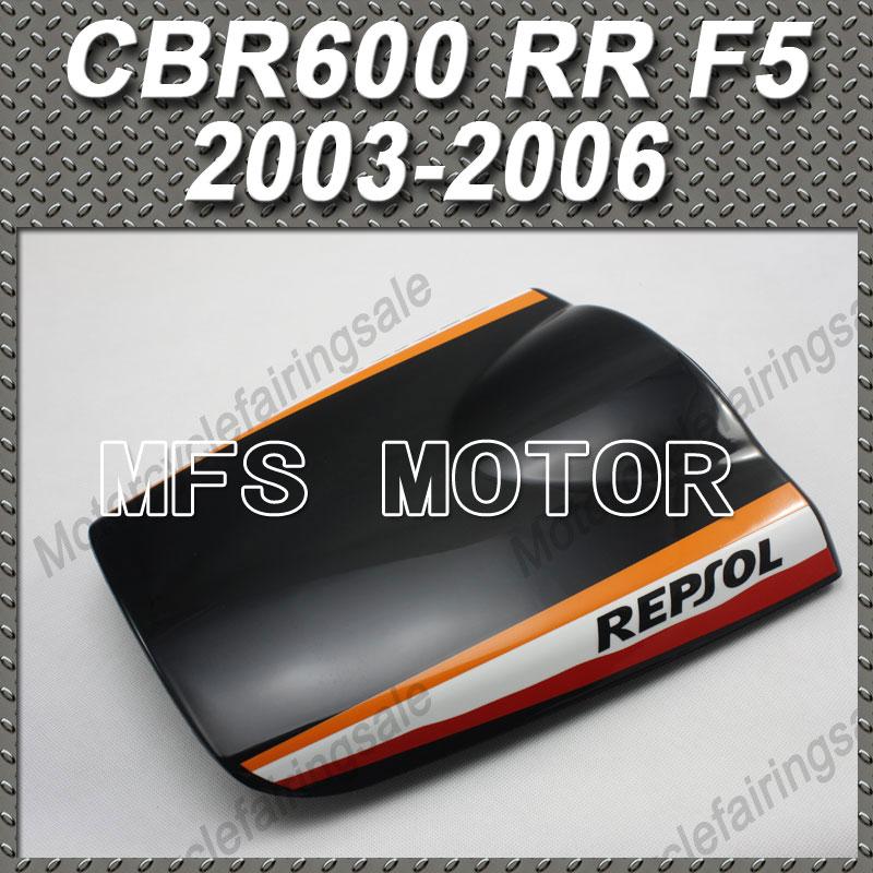 Motorcycle Part Rear Pillion Black Seat Cowl Cover Honda CBR600RR F5 CBR 600 RR 2003 2004 2005 2006 03 04 05 06 Repsol - MFS MOTOR Store store
