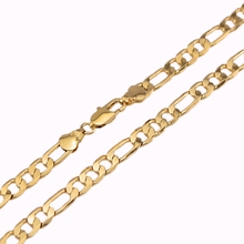 "Hot Sale Men's 18K Yellow Gold Plated Italy Figaro Chain Necklace 24"" 60CM(China (Mainland))"