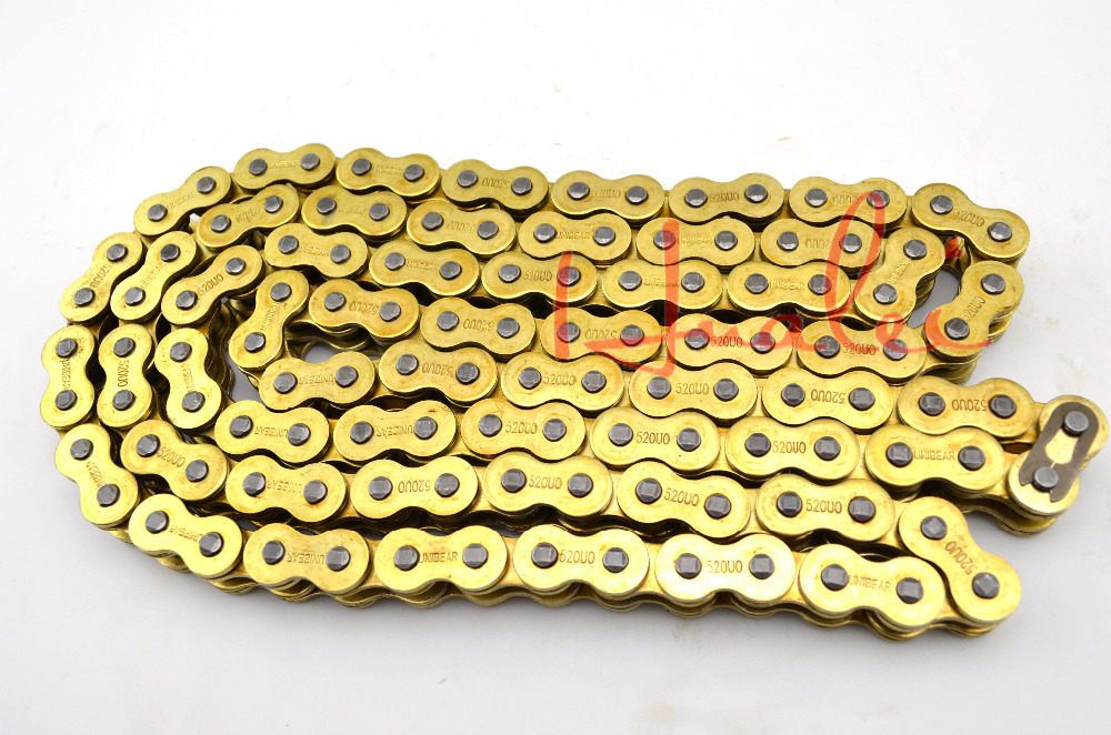 530*120 Brand New UNIBEAR Motorcycle Drive Chain 530 Gold O-Ring Chain 120 Links For KAWASAKI VN 800 CLASSIC Drive Belts<br>