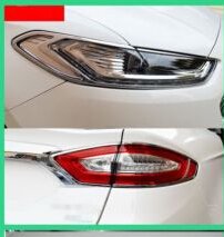Фотография 6pcs  FRONT TAIL HEAD LIGHT  LAMP COVER TRIM  For Ford Mondeo Fusion 2013  2014 2015 FIT FOR LEFT HAND DRIVE