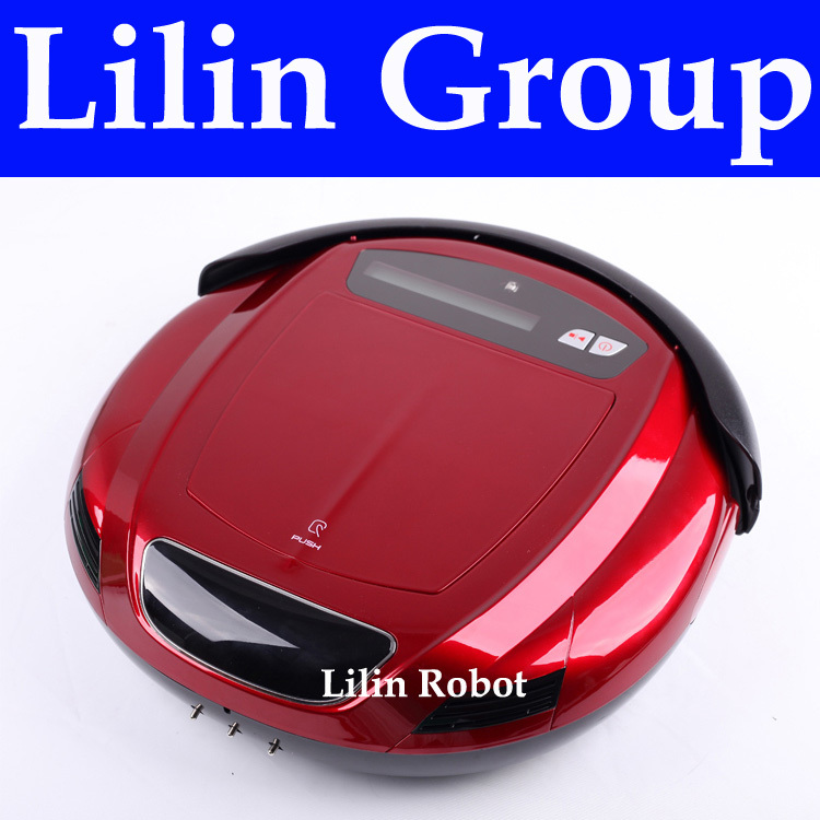 (Free to Russia) Robot Vacuum Cleaner,Multifunction(Vacuum,Sweep,Sterilize,Flavor),LCD,Timing Setting,Self Charge,Remote Control(China (Mainland))