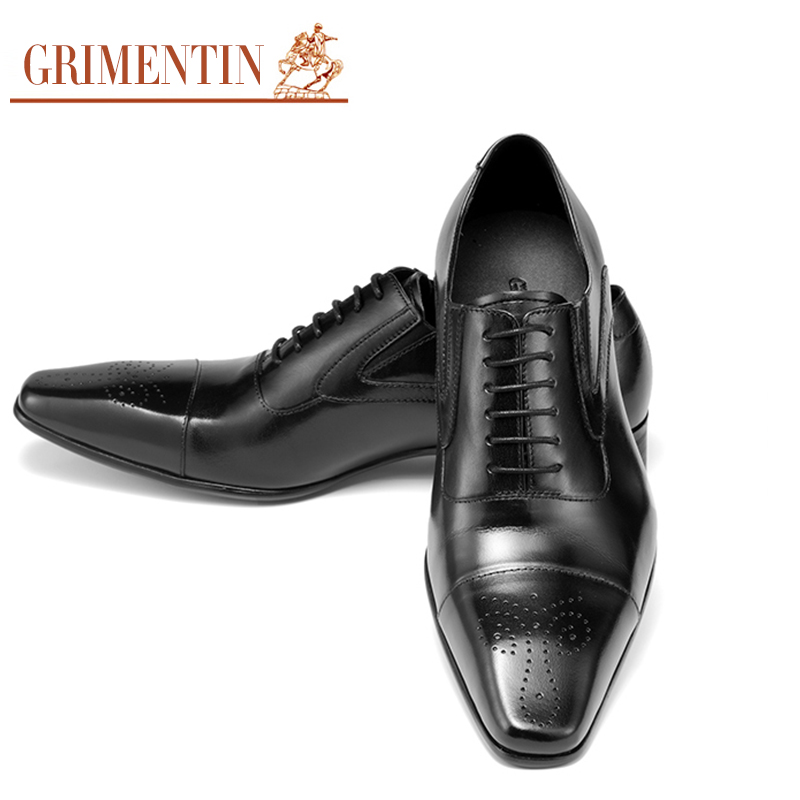 New Arrival Handmade Genuine Leather Mens Flats Black Brown Carved Classic Brand Designer Men Italian Dress Shoes OX936(China (Mainland))