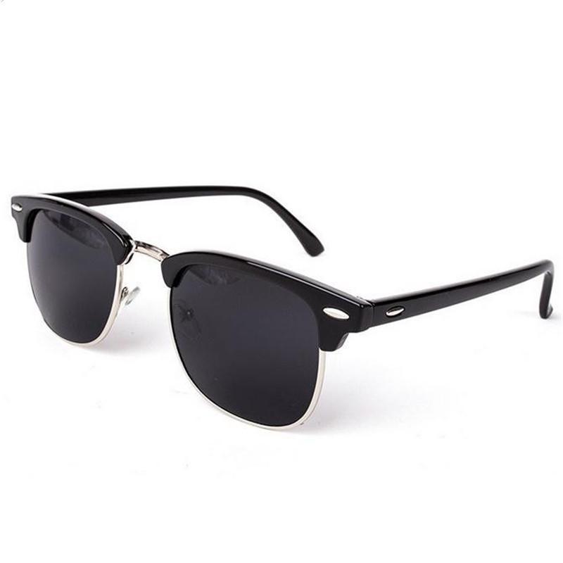 2016 Oculos Half Metal Sunglasses Men Women Brand Designer ...