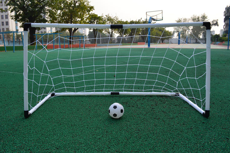3 Size Safe Portable Easy-to-Assemble Football Soccer Goal Post + Net + Ball + Pump Indoor Outdooor Children Kids Toy A16600270(China (Mainland))