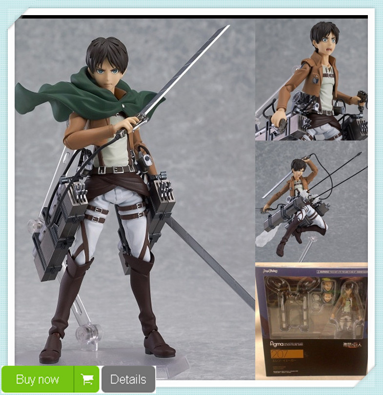 Attack Titan Eren Jaeger Figma 207 PVC Action Figure Collection Model Toy 15CM Best Gift - Cartoon Toys Center store