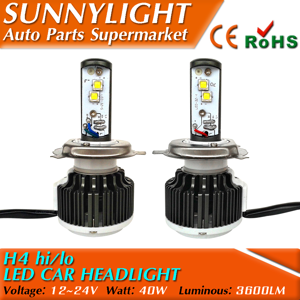 Wholesale Newest LED H4 High Low 12V/24V CREE car headlight for automotive LED DRL fog offroad lamp motorcycle head light(China (Mainland))