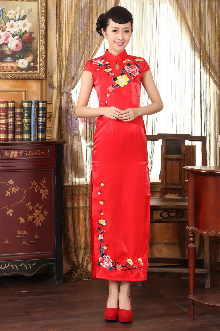 Free Shipping!Hot Sale New Arrival Chinese Tradition Style Women's Cheong-sam Dress S M L XL XXL ----SDNEW-125