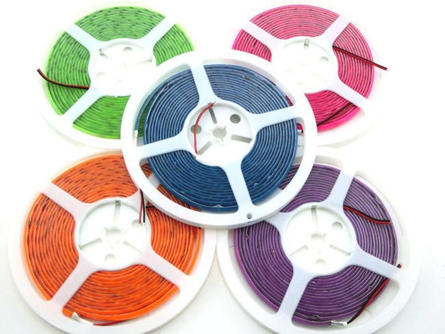5630 SMD Neon LED Strip Rainbow Light Purple/Pink/Green/orange/Blue Waterproof 300 Leds Fluorescent Color 12V New Arrival(China (Mainland))